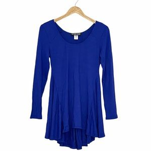 NWOT The Pyramid Collection Royal Blue Tunic Top